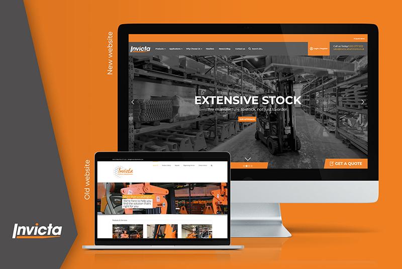 Invicta web redesign